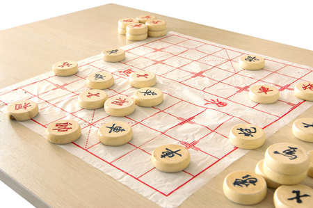 Chinese chess, the ancient puzzle game. photo