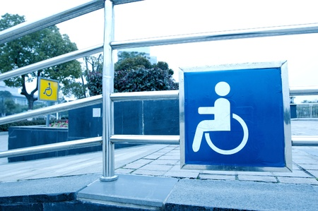 wheelchair access: using wheelchair ramp(Barrier-free access) Editorial
