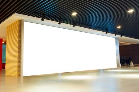 blank billboard indoor.Shanghai, China. Stock Photo - 12037323