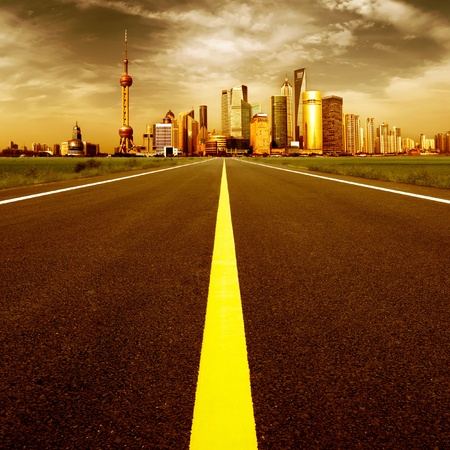 The road leading to big cities photo