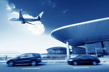 business airport: the scene of T3 airport building in beijing china  Editorial