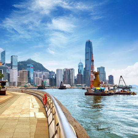 kowloon: Hong Kong Island, Victoria Harbour  Stock Photo