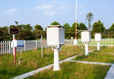 The weather station in the forest photo