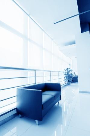 corridors: Office of the sofa and corridors, modern building interior