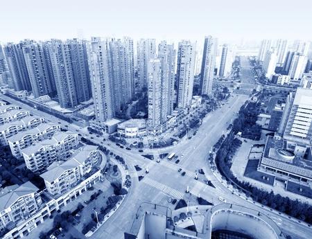 pu: Aerial view of Shanghai city