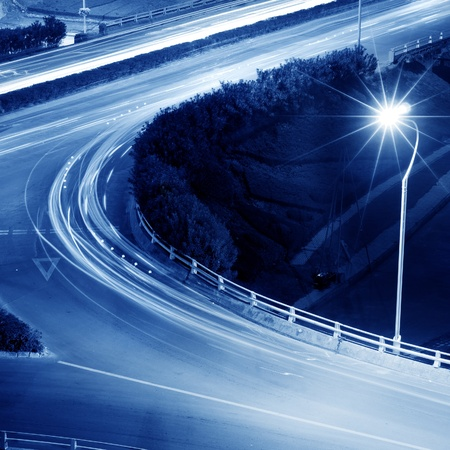 beautiful light trail at the busy highway Stock Photo - 12678949