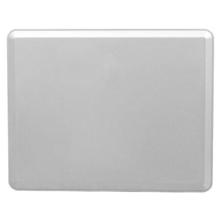 multi touch: Isolated on white background of the Tablet PC on the back, gray metal  Stock Photo