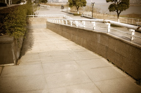 using wheelchair ramp(Barrier-free access) photo