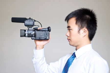 Who are working in the camera Stock Photo - 13307181