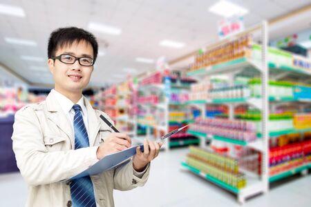 Die Supermärkte Administrator bei der Arbeit