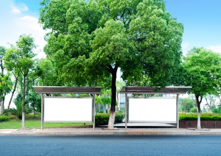 billboard posting: This is for advertisers to place ad copy samples on a bus shelter
