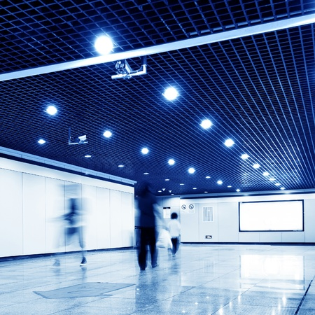 Passenger hall of the Shanghai subway station