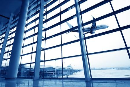 Shanghai Pudong Airport Terminal, modernes Gebäude Innenraum