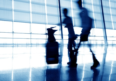 passenger in the shanghai pudong airport.interior of the airport. Stock Photo - 14121486