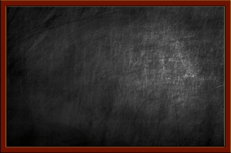 empty blackboard with wooden frame and chalks Stock Photo - 14121550