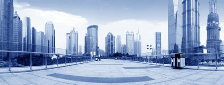 overbridge: skyscraper buildings.