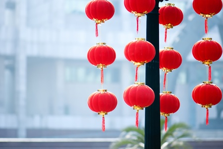 Red lanterns, festive symbol of Chinese tradition Stock Photo - 14318919