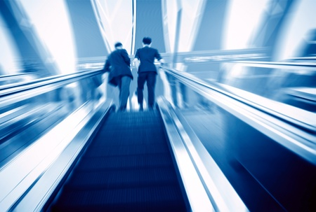Escalator ,interior of the shanghai pudong airport . photo