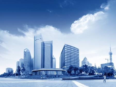 the modern building of the lujiazui financial centre in shanghai china  Stock Photo