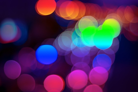 Car lights on the road, colorful light. photo