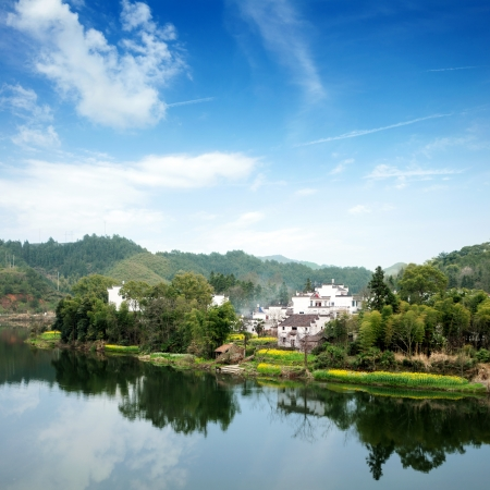 China Wuyuan, beautiful countryside spring  Stock Photo - 15664038