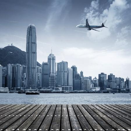 hong kong night: Hong Kong, Victoria Harbour sailing  Editorial