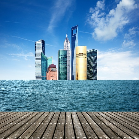 exaggerated: A sea of skyscrapers, exaggerated performance