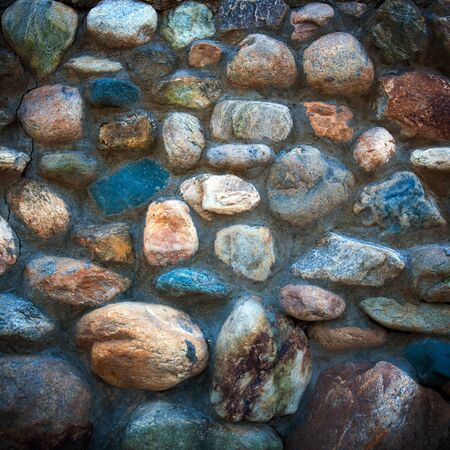 hardness: Cobblestone walls, commonly used in background material  Stock Photo