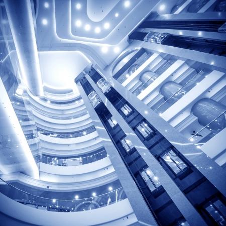 futuristic elevator in the modern building at HK ina  Stock Photo - 16043190