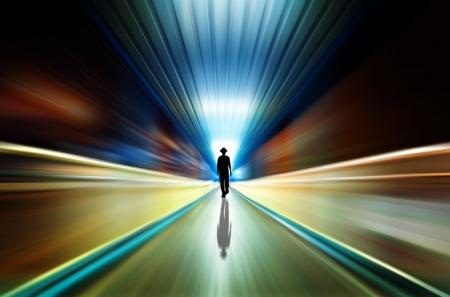 la couleur du tunnel Banque d'images