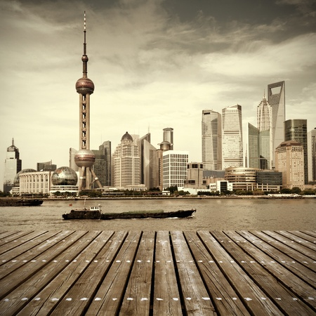 modern city skyline ,shanghai pudong, China. Stock Photo - 16309432
