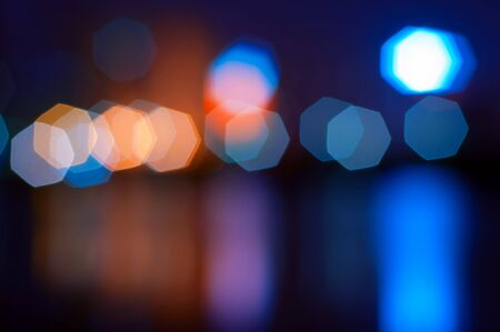 Car lights on the road, colorful light. Stock Photo - 16309331