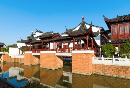 River of ancient Chinese architecture