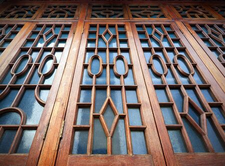 historical sites: The windows of the Chinese ancient buildings and historical sites. Stock Photo