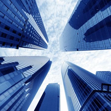 Metropolis of Shanghais modern office building Stock Photo