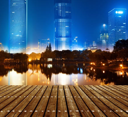 The night view of the lujiazui financial centre in shanghai china. Stock Photo - 16952658