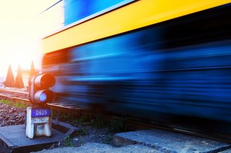 flatcar: Freight train motion blur