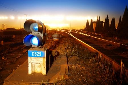 semaphore: Traffic light in railroad