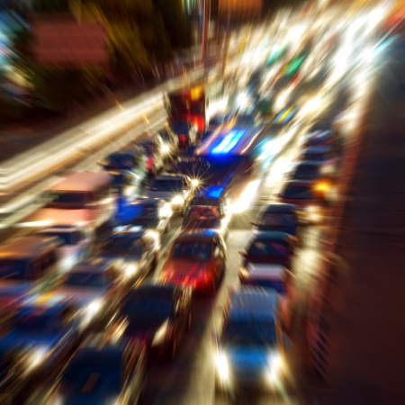 This picture was shot in peak hour traffic Stock Photo - 18341690