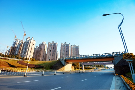 urban road: Urban road landscape, Nanchang, China  Stock Photo