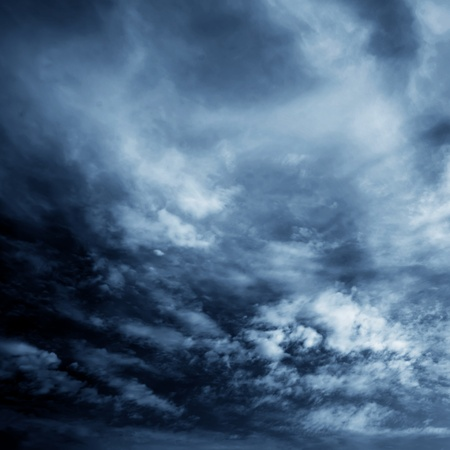 bad weather: Background of dark clouds before a thunder-storm