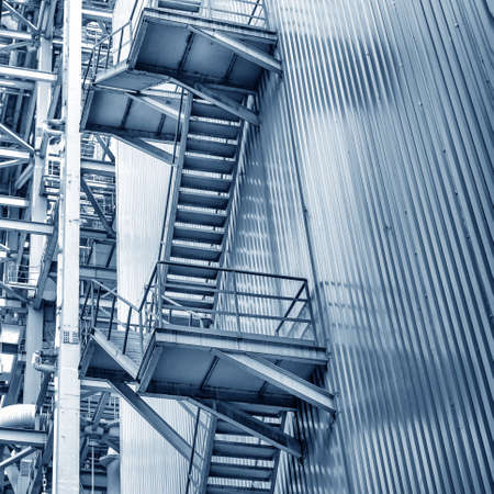 power within: Coal-fired power plants within the stairs and pipes