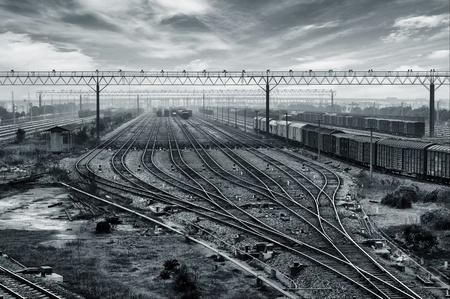 railway points: Railway transportation hub in Shanghai, China