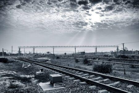 railway transportation: Railway transportation hub in Shanghai, China