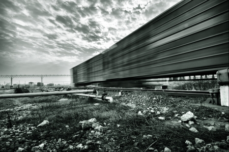 Motion Blur freight train photo