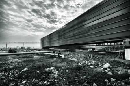 flatcar: Motion Blur freight train