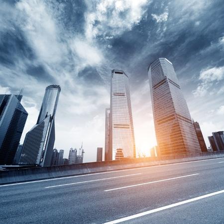 pu dong: Shanghai urban landscape, Shanghai landmark  Stock Photo
