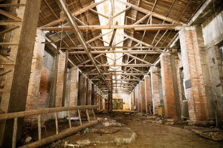 Abandoned rusty factory interior  photo