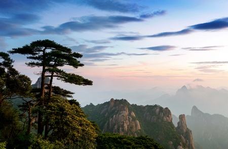 world natural heritage: World Natural Heritage  China Jiangxi Mountains  Stock Photo