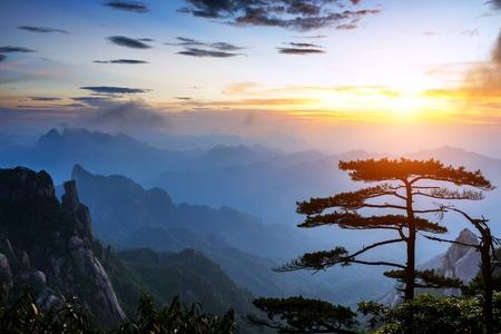 naturally: World Natural Heritage  China Jiangxi Mountains  Stock Photo